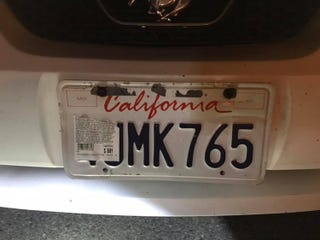 A California driver tried to avoid a highway toll by obscuring his license plate with the sticker from a pack of chicken wings he bought earlier.