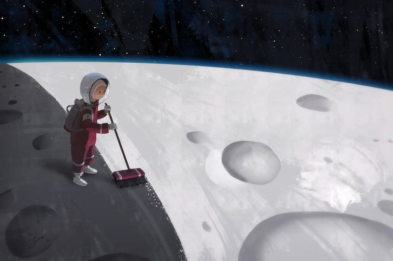 Illustration for article titled Concept Art Writing Prompt: The Kid Who Paints The Moon