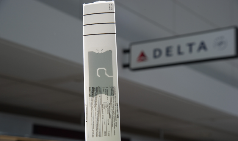 There's an RFID chip embedded in that bag tag. Image: Delta