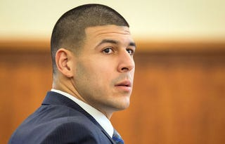 Illustration for article titled Babysitter Claims Aaron Hernandez Tried To Kiss Her