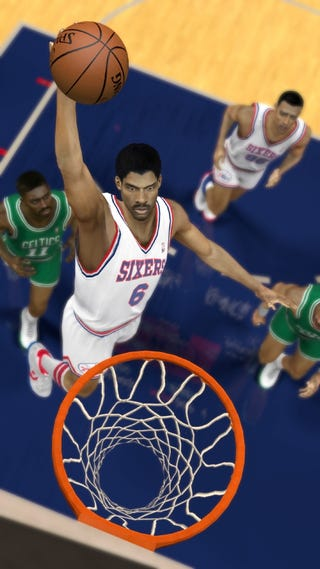 """Illustration for article titled Dr. J Joins Larry, Magic and Michael in NBA 2K12's """"Greatest"""" Challenge"""