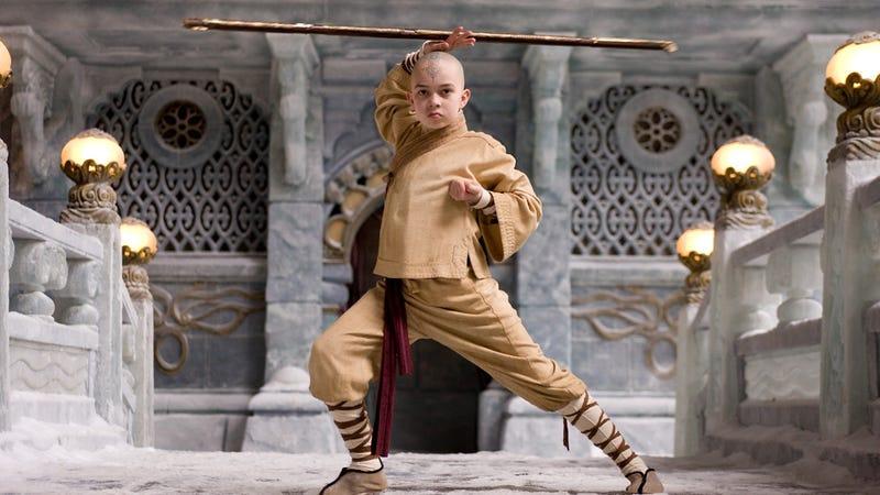 Noah Ringer as Aang in The Last Airbender.