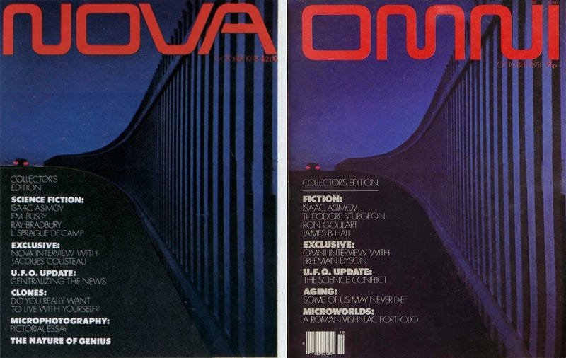Illustration for article titled Omni Magazine Was Almost Called Nova Until PBS Sued