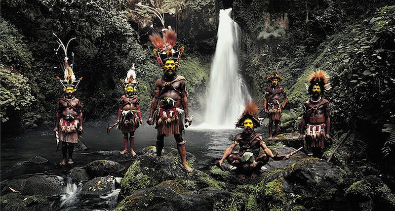 Los Huli, en Indonesia y Papúa (Nueva Guinea). Foto: Jimmy Nelson / Before They Pass Away