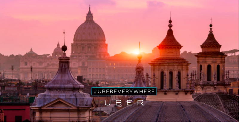 Uber welcomed itself to Rome in 2013. Oh well. Photo Credit: Uber