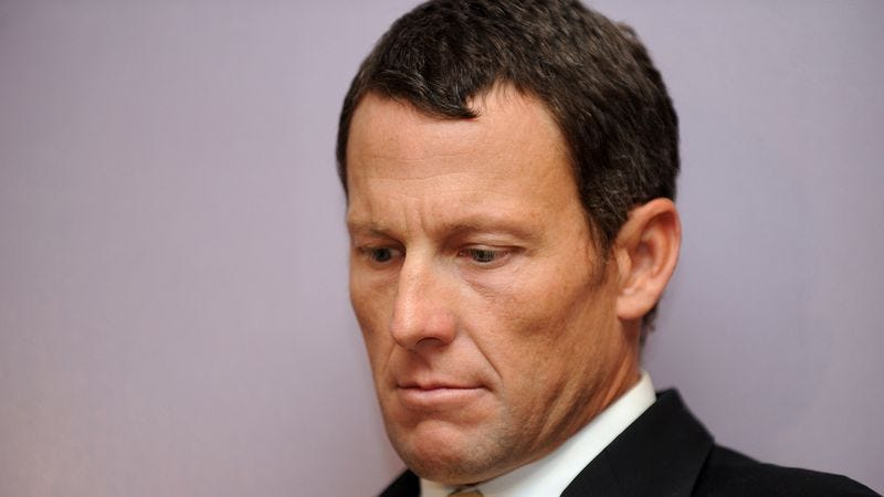 Illustration for article titled Lance Armstrong Admits To Using Performance-Enhancing Drugs To Show Remorse