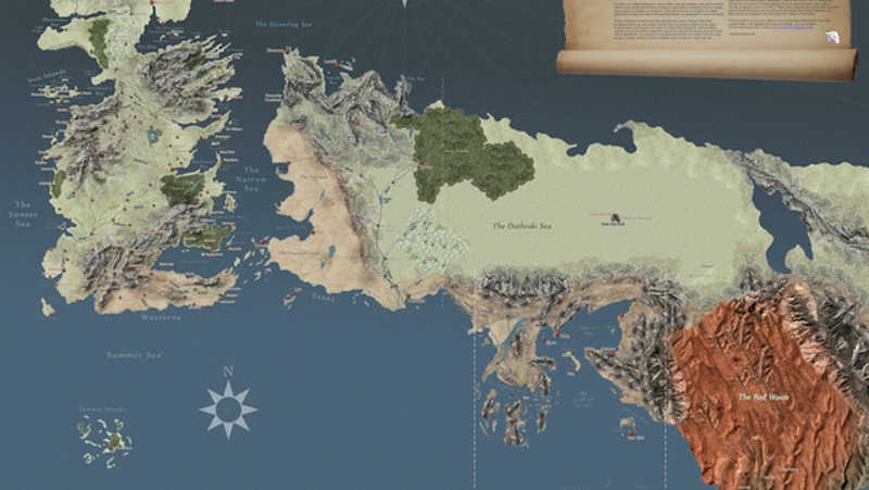 The Most Detailed Map Of Game Thrones World Yet: Detailed Game Of Thrones Map At Slyspyder.com