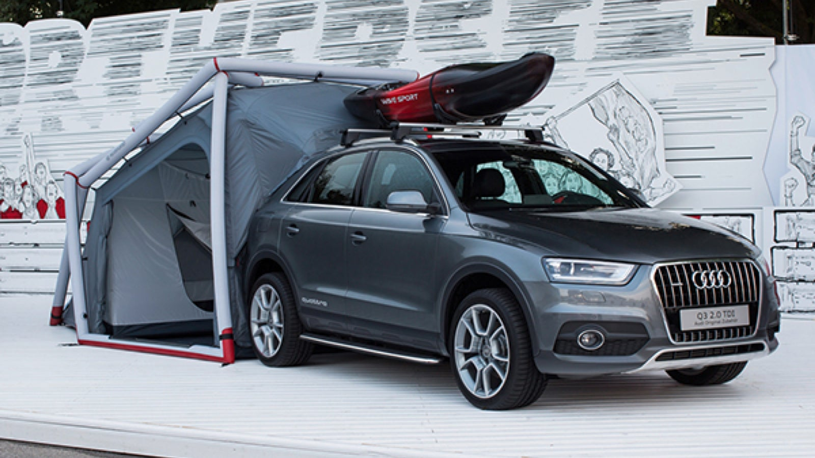 Want to go car c&ing with a crossover that wonu0027t go off-road? Sounds a little tricky but this matching tent will at least make c&ing out of your Audi ... & A Tent For Your Tiny Crossover