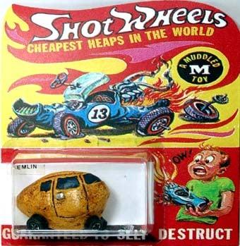 Illustration for article titled Life Imitates Art, 80s Style: Shot Wheels Cars