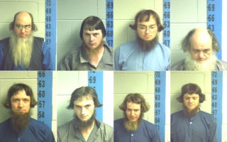 Illustration for article titled Here Are Eight Mugshots Of Amish Guys With Odd Hair And Beards