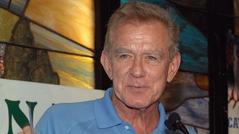 Illustration for article titled Tim McCarver Delivers Incoherent, Unintelligible Retirement Announcement