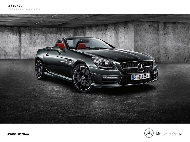Illustration for article titled Is the SLK 55 AMG the last properly named Mercedes?