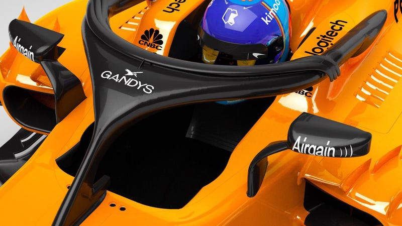 Illustration for article titled McLaren Embraces Ugly F1 Halo And Gets Flip Flops Sponsorship
