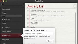 Share Reminders Lists with Other Users Over iCloud