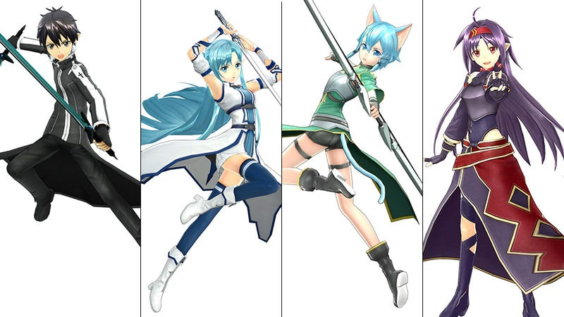 Illustration for article titled The New Sword Art Online Game Lets You Play as All Your Favorites
