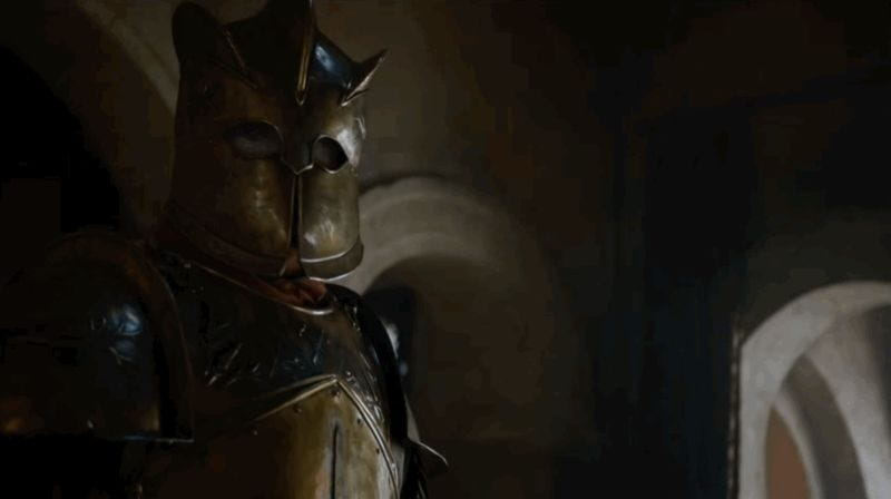 Illustration for article titled Get A Closer Look At This Game of Thrones Knightmare--I Mean Robert Strong