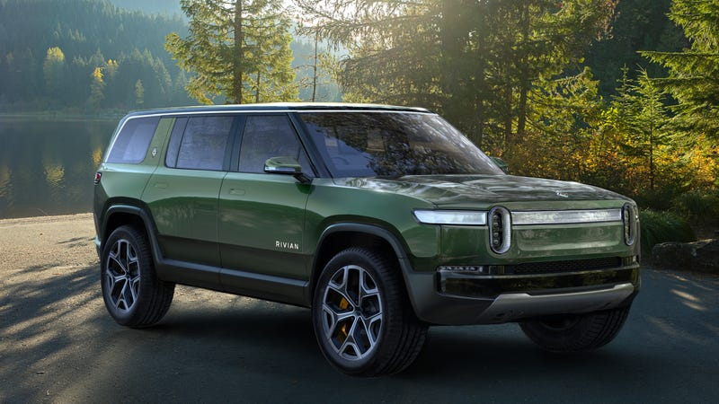Illustration for article titled The Rivian R1S Could Be a Crazy Quick Seven-Seat Electric SUV Made in America