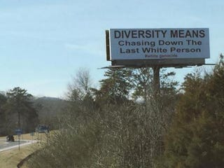 Sign posted along Interstate 59Twitter