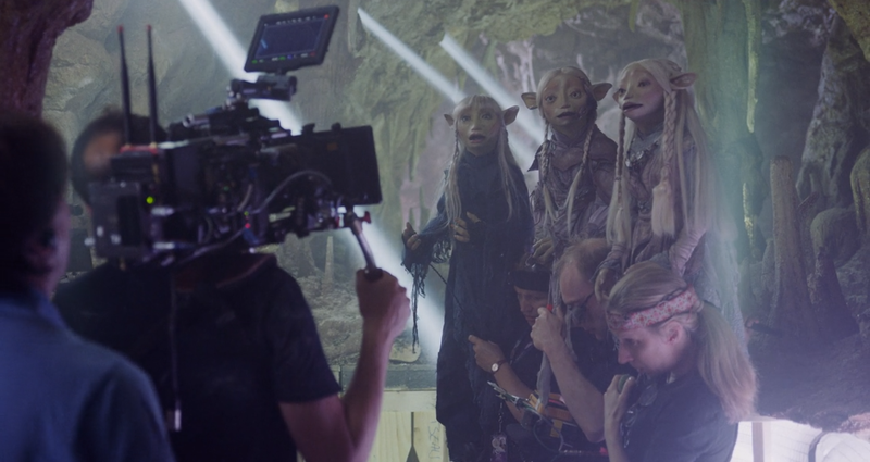 Seladon, Tavra, and Brea, making similar faces to ours when learning just how much work goes into making an episode of The Dark Crystal: Age of Resistance.