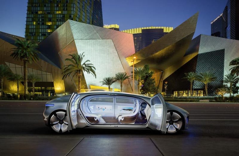 Mercedes' autonomous car concept from 2015, which is totally different from what we see today. Photo: M-B