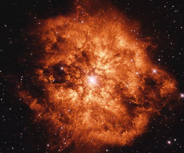 The fieriest star explosion I've ever seen is not even a ...