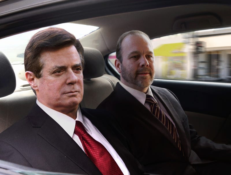Illustration for article titled Manafort Shares Tense Silence With Rick Gates On Car Ride Back From Trial