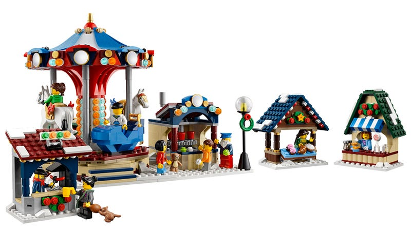 I Want to Live in the Lego Winter Village Market All Year Round