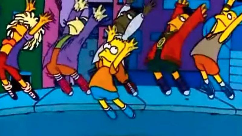 Illustration for article titled If you can do the Bartman, you're bad like Michael Jackson