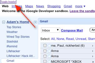 iGoogle Header Remover Improves Screen Real Estate