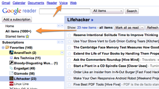 Illustration for article titled Minimalist Google Reader Saves Space in Google Reader, Adds Useful Shortcuts