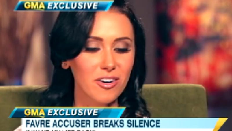 Good Morning America Tomorrow : Jenn sterger talks life after brett favre s penis with