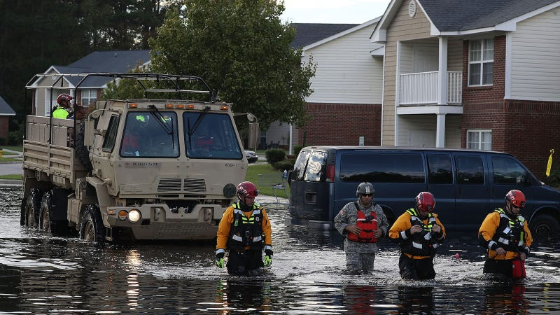Illustration for article titled 2 Patients Chained to Back of Van Died in Florence Floodwater as Deputies Sought Safety