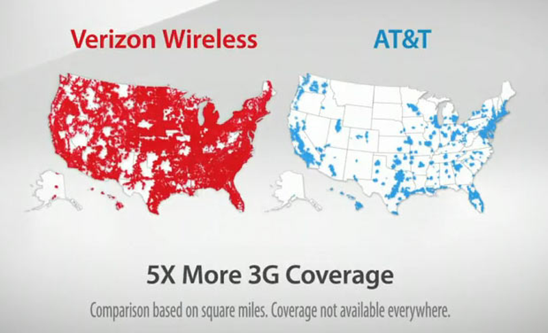 Att Suing Verizon Because \map\ Ad Is Confusing To Dumb People: Verizon California Coverage Map At Slyspyder.com