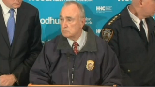 """NYPD Commissioner Bill Bratton holds a news conference after what he termed """"an assassination"""" of two officers in Brooklyn, N.Y.NBC New York Screenshot"""