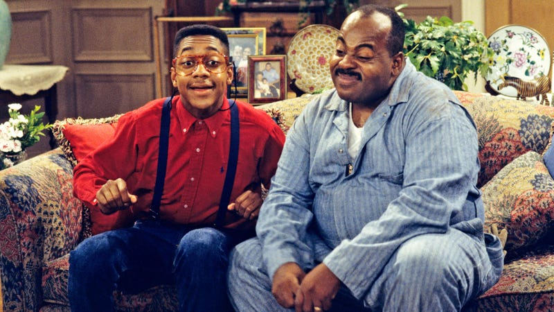 Urkel and Carl Winslow on Family Matters.