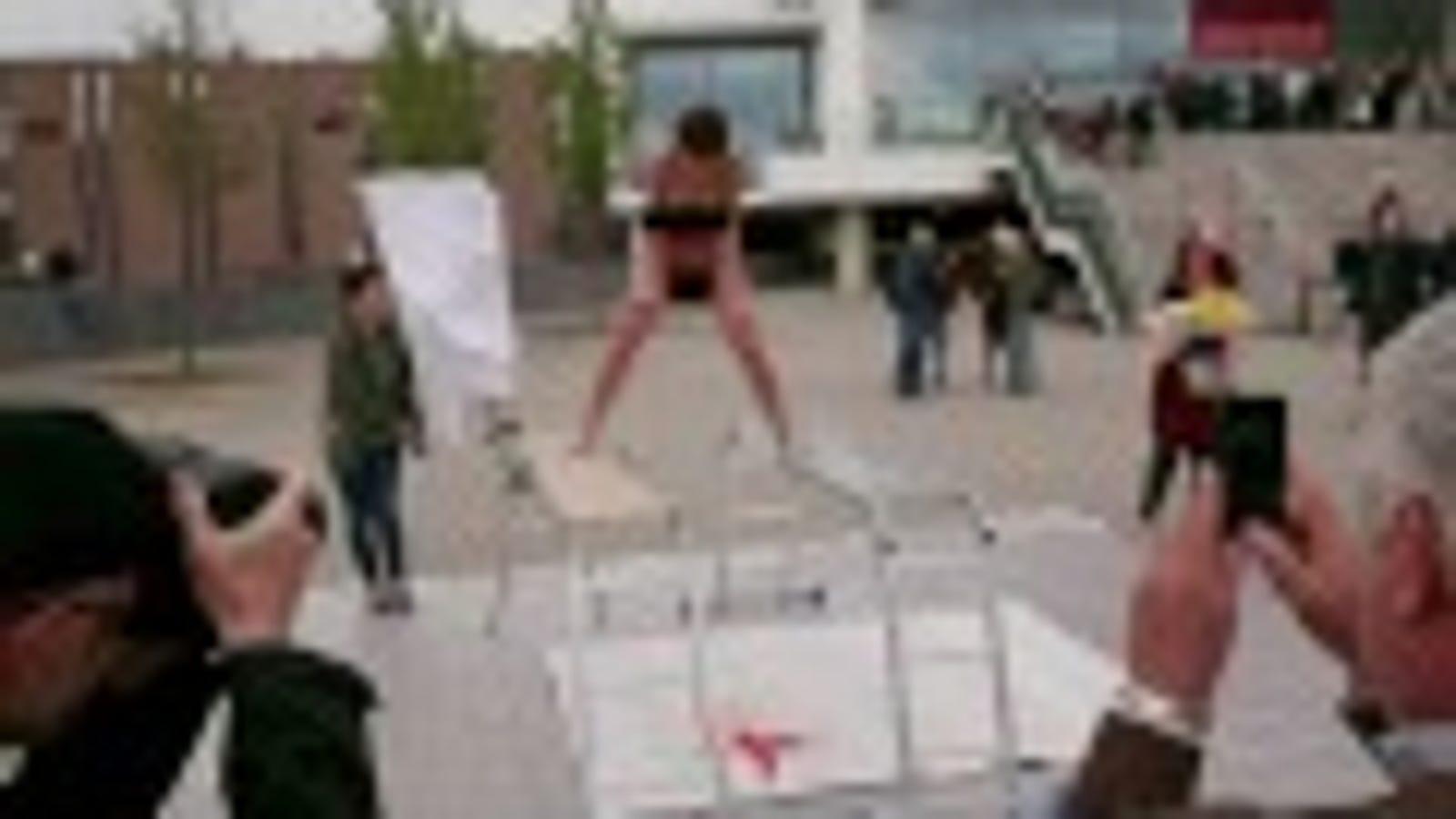 Bondage bondage outdoor public