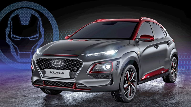 Illustration for article titled The Hyundai Kona Iron Man Edition Is What Tony Stark Would Drive if He Was Broke and Boring