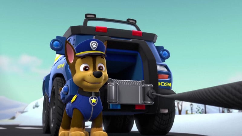 Illustration for article titled 'Paw Patrol' Writers Defend Episode Where German Shepherd Cop Shoots Unarmed Black Lab 17 Times In Back