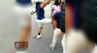 A 17-year-old girl was brutally attacked Oct. 21, 2014, in West Baltimore on her way to apply for a job at a local mall.WJZ 13 screenshot
