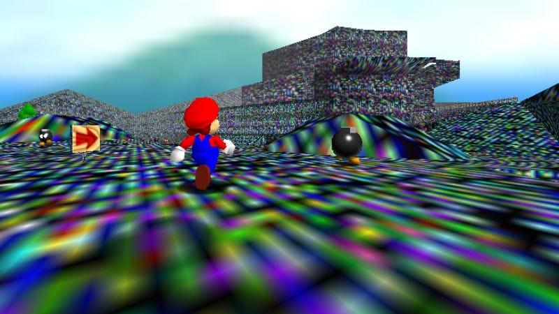Screenshot: Super Mario 64, Chaos Edition