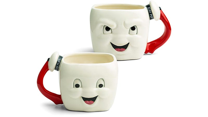 Illustration for article titled A Stay Puft Marshmallow Man Mug With a Naughty and Nice Side