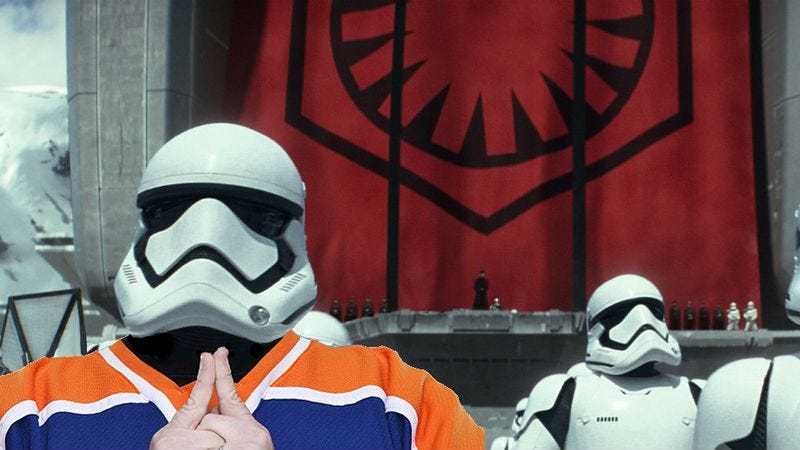 Illustration for article titled Kevin Smith provided the voice of a Stormtrooper in The Force Awakens