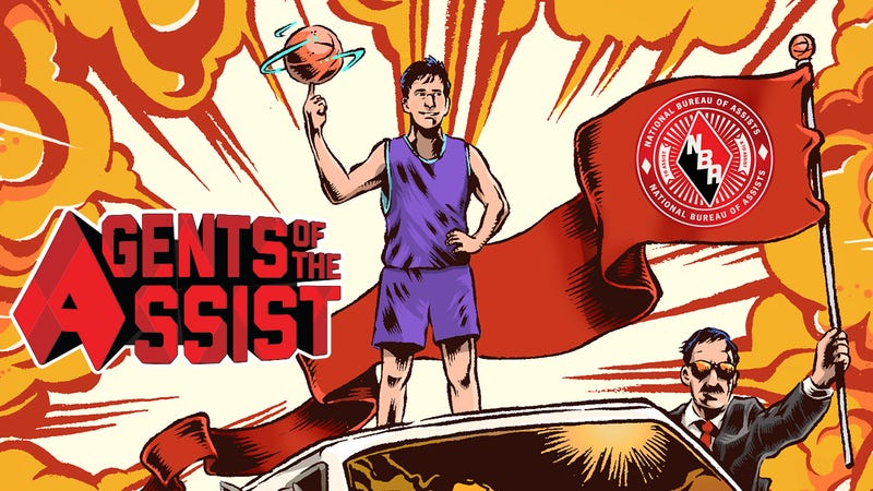 Illustration for article titled Assist Legend John Stockton Makes An Amazing Comic Book Hero