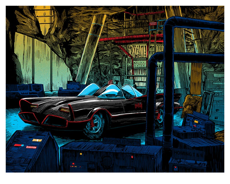 The Batcave from Batman 1966. All Images: Tim Doyle