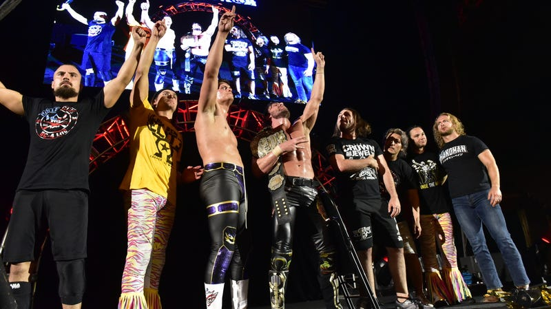 The Bullet Club, led by Cody Rhodes and Kenny Omega, at NJPW G1 Special in San Francisco on July 7th.