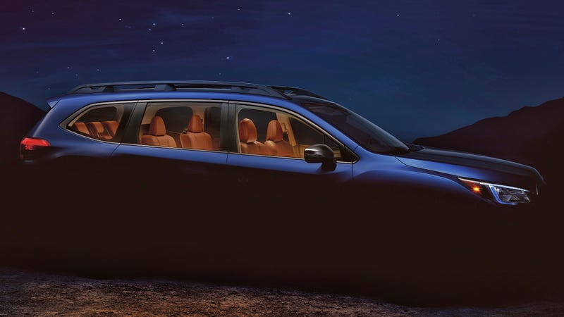 Illustration for article titled Subaru has released the floating top half of the new Ascent 3-row crossover