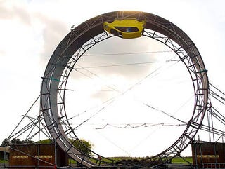 Illustration for article titled World's Largest Loop-the-Loop Stunt, Now In Video