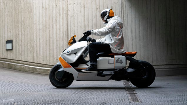 BMW s Definition CE 04 Electric Scooter Is The Cyberpunk City-Commuter Future We All Need