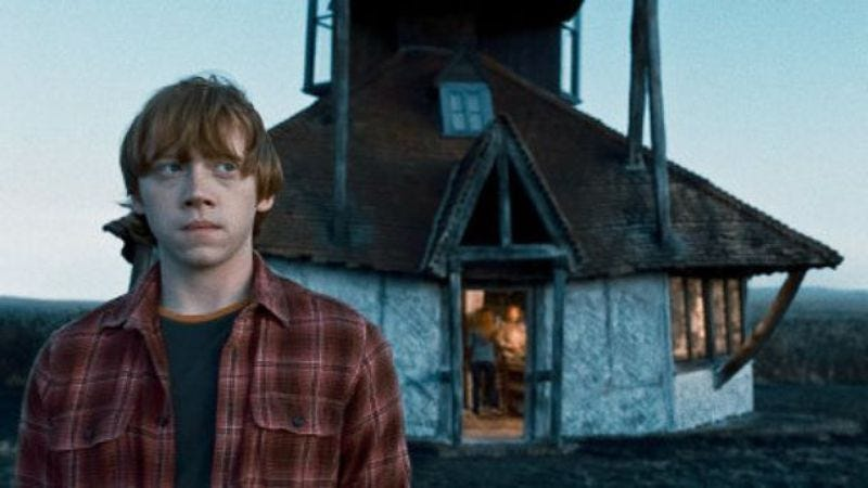 You can't stop him, he's Rupert Grint. (Harry Potter And The Deathly Hallows)