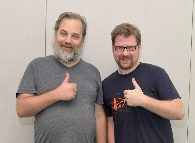 Dan Harmon and Justin Roiland (Photo: Charley Gallay/Getty Images)